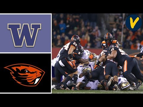 Washington vs Oregon State Highlights Week 11 College Football 2019