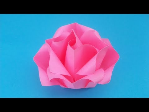 Фото как сделать розы из бумаги