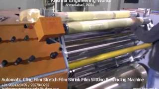 Automatic Cling Film Stretch Film Shrink Film Slitting Rewinding Machine