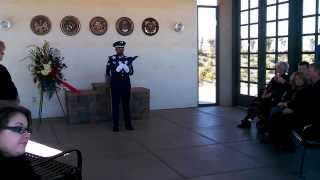 Military Interment Of Dr. Norman L. Forste At Sacramento Valley VA National Cemetery