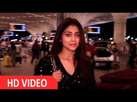 Shriya Saran Spotted At International Airport