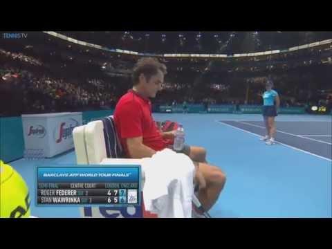 semifinale roger federer vs stanislas wawrinka - atp finals di londra 2014