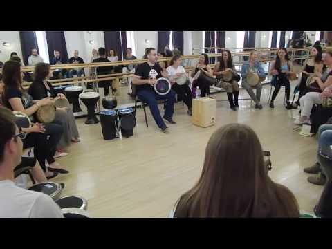 Оссама Шахин. Мастер-класс по игре на табла дарбука в Челябинске (видео 1)