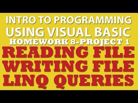 VB.net (Ex 8-pp1): Reading, Writing, and Sorting Text Files (VB.net LINQ)