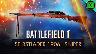 Battlefield 1 New Weapons (BF1): Here's my Selbstlader 1906 'Sniper' Weapon Guide/Review, including info, tips for using it best, gun stats + Selbstlader 1906 Gameplay. Selbstlader 1906 Sniper unlock guide included. BF1 Weapons + Guns (PS4 Pro Gameplay)For more information on the Selbstlader real life history and 'Factory' variant stats, check out the other 'Selbstlader 1906 Factory' review on my channel.Battlefield 1: Selbstlader 1906 Sniper Review (Weapon Guide)  Selbstlader 1906 GameplayStats Reference: http://symthic.com/How to unlock Selbstlader Sniper:The Sniper variant has a bipod and telescopic sight (scope), it can be unlocked after reaching medic rank 10, and by getting 300 kills with the Selbstlader 1906 factory, and 25 kills with rifle grenades. Selbstlader 1906 BF1 unlock (Best gun tips) (PS4 Pro Gameplay)Facebook:  https://www.facebook.com/kriticalkrisTwitter:  https://twitter.com/KriticalKrisMusic:Intro:Krale - Frontier (ft. Jasmina Lin & Jay Christopher) [NCS Release]http://www.youtube.com/watch?v=pGMojZB0Lm0Check out my channel: KriticalKris Channel : https://www.youtube.com/channel/UC5d9SQiZzg7qFcqF0xTOFXQ/feedhttps://youtu.be/9uM3FwyRqyw