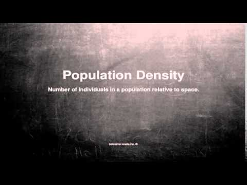 Medical vocabulary: What does Population Density mean
