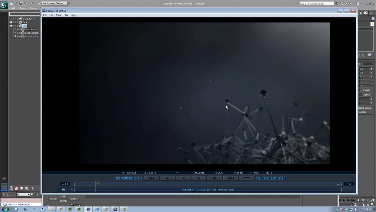 video/creating plexus effect 3ds max tutorial