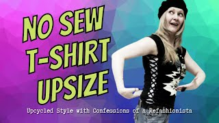 The DIY Laced-Up T-shirt no-sew refashion tutorial - YouTube