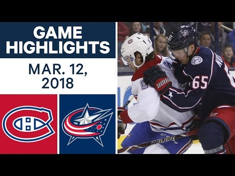Video: NHL Game Highlights | Canadiens vs. Blue Jackets- Mar. 12, 2018