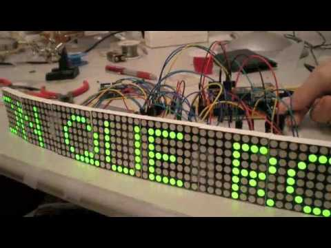 Led Matrix with arduino, Matriz de Leds.