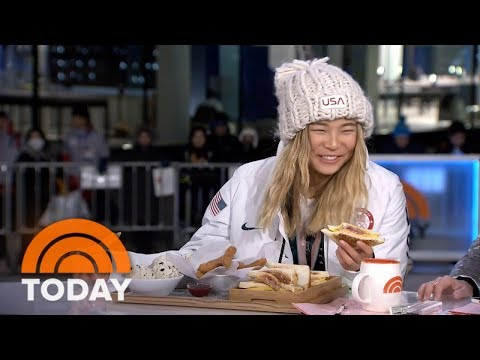 Download Video Chloe Kim Eats Churros Made Especially For Her After Winning Gold At The Winter Olympics | TODAY