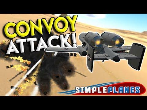 MECH WALKER & DESERT CONVOY ASSUALT! - Simple Planes Creations Gameplay - EP 13
