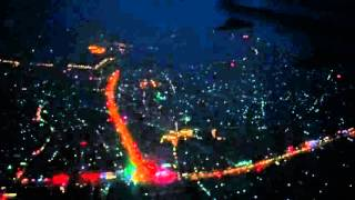 Jieyang China  City new picture : Night Landing at Jieyang Chaoshan International Airport (SWA) / RW22 Left Side View