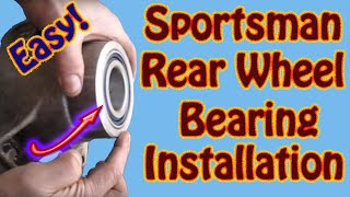 9. Polaris Sportsman Rear Wheel Bearing Installation - DIY ATV Rear Axle Bearing Replacement Part 2