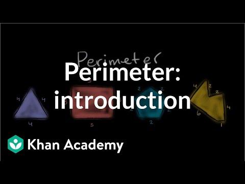 Perimeter Introduction Video Perimeter Khan Academy