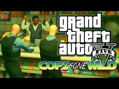 """GTA 5 online- """"COPS GONE WILD"""" #1 – Funny Chases, Bad cop explosions, Donuts, and more"""