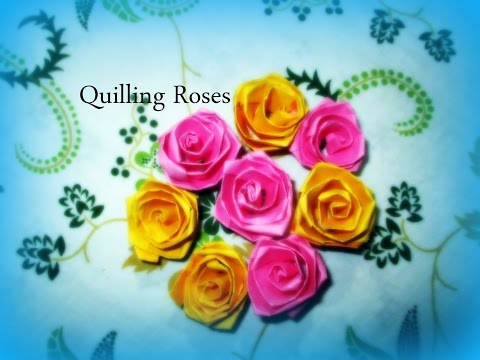 DIY paper Crafts :: How to Make Colorful Quilling Paper Rose flowers – Innovative Art