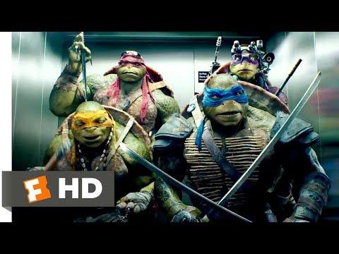 Teenage Mutant Ninja Turtles (2014) - Elevator Freestyle Scene (8/10) | Movieclips