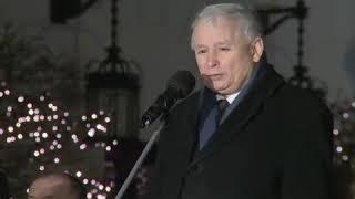 Kaczyński podczas wczorajszej miesięcznicy