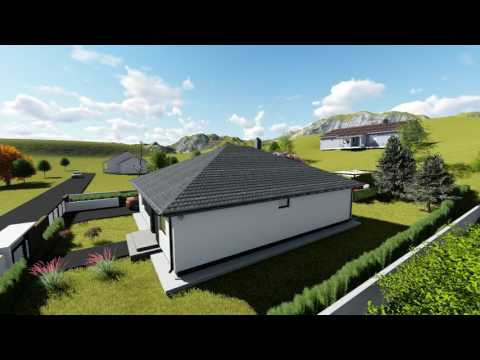 Family house interior and exterior 3D model
