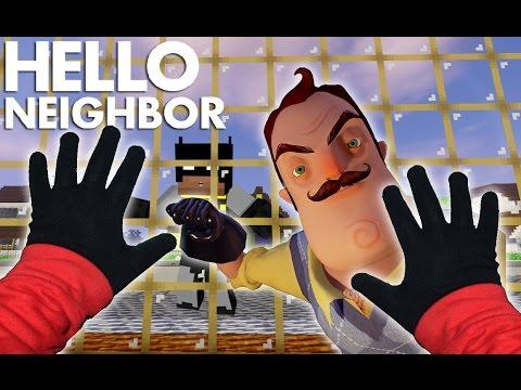 Minecraft vs Real Life - STEVE TRAPPED! Real Life Hello Neighbor (видео)