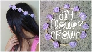 DIY: Braided Flower Crown ♥ - YouTube