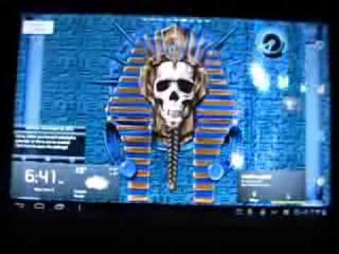 Video of Undead Pharaoh Skull Free LWP