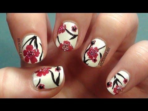 nail art - splendidi boccioli di ciliegio