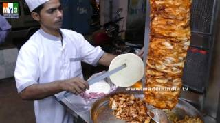 CHICKEN SHAWARMA ROLL | WORLD FAMOUS CHICKEN RECIPE street food