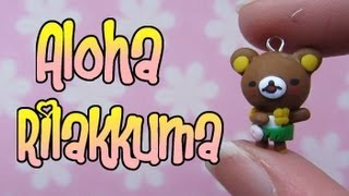 Aloha/Hawaiian Rilakkuma Tutorial: Grass Skirt & Garland: Polymer Clay Charm. - YouTube