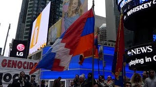 Armenian Genocide Commemoration in Times Square, NY 2019