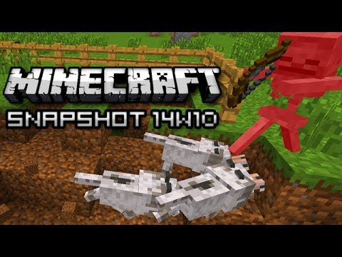 Minecraft: Skeleton Killers, Exploding Arrows, and More! (Snapshot 14w10b)