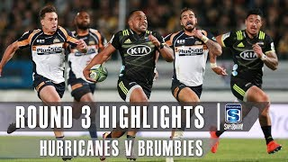 Hurricanes v Brumbies Rd.3 2019 Super rugby video highlights | Super Rugby Video Highlights