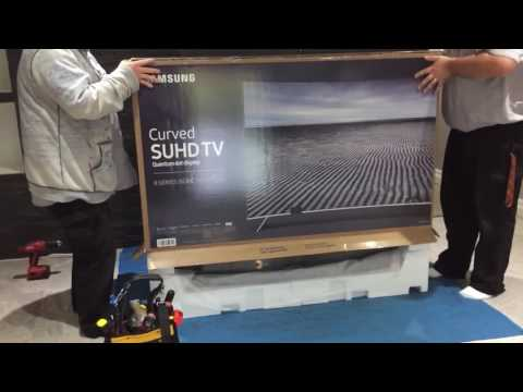 Samsung UN65KS8500 Curved 65-Inch 4K TV Partial Unboxing (Very Quick)