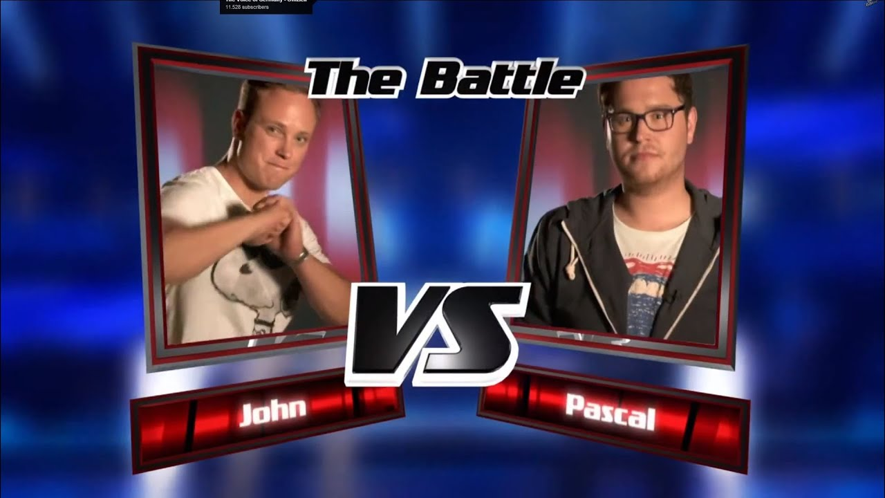 Pascal vs. John: Weil Das Morgen Noch So Ist | The Voice of Germany 2013 | Battle