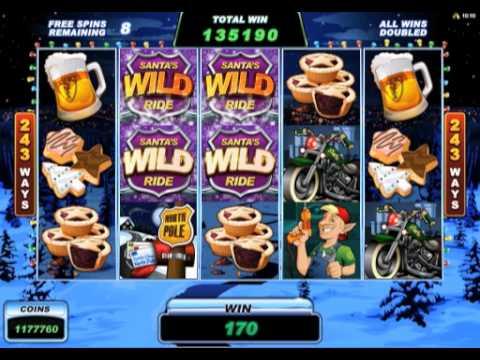 Santa's Wild Ride Video Slot Game Promo