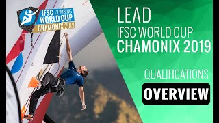 IFSC Climbing World Cup Chamonix 2019 - Lead - Qualifications Overview by International Federation of Sport Climbing