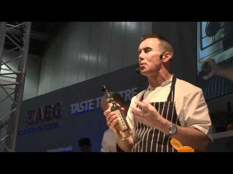 Gary Rhodes talks about TOFFOC vodka at Taste of Christmas, Excel, 2011