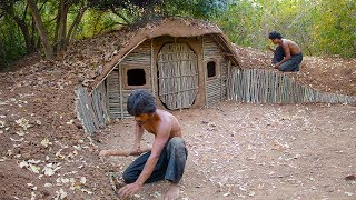 Video Build House underground Using wood | Primitive technology , Building Skill MP3, 3GP, MP4, WEBM, AVI, FLV Februari 2019