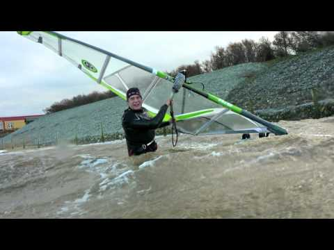 windsurfing Wells Jan 2012