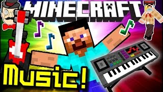 Minecraft MUSICAL INSTRUMENTS! Playable Sax, Guitar, Piano&More!