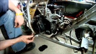 9. Yamaha Blaster Rebuild Part 3 of 6 Engine covers and clutch