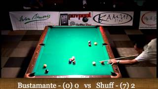 Pt 1 / Bustamante Vs Brandon Shuff /  / 2013 WCC One-Pocket / July