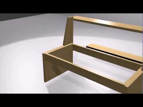 sitzbank selber bauen gartenbank aus holz anleitung. Black Bedroom Furniture Sets. Home Design Ideas