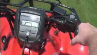 8. 2010 Honda Rancher AT - Driving with Manual Shift ESP