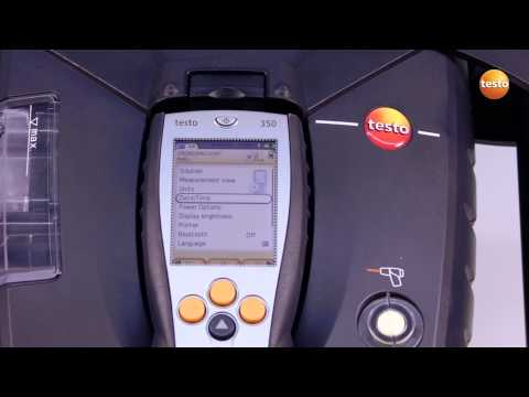 testo 350 Gas Analyser - Step 1 - How to Start Measuring Ins