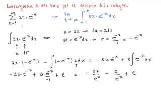 Convergencia de una Serie por el Criterio de la Integral (2)