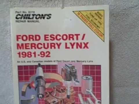 Ford Escort Mercury Lynx 1981 – 1992 Chilton's repair Manual UPC 035675083164