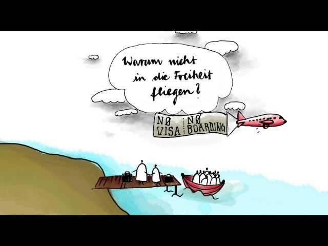 Video - Warum kommen die Flüchtlinge nicht einfach mit dem Flugzeug?