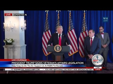 WATCH President Trump FULL Comments on Charlottesville; Signs Veteran